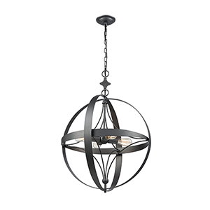 Farwell Dark Graphite Four-Light Pendant