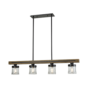 Timberwood Oil Rubbed Bronze Four-Light Island Pendant