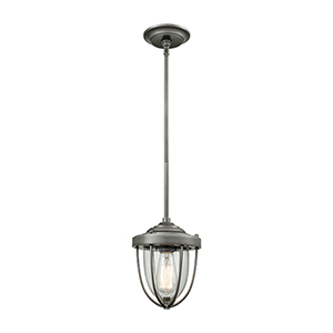 Sturgis Weathered Zinc One-Light Mini Pendant