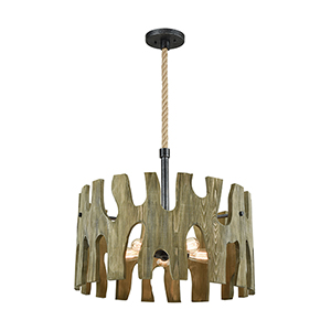 Driftwood Cove Silvered Graphite Five-Light Pendant