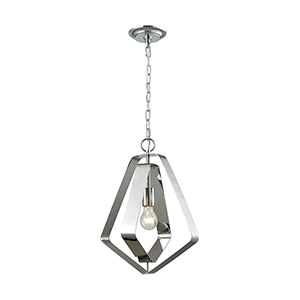 Anguluxe Polished Chrome One-Light Pendant