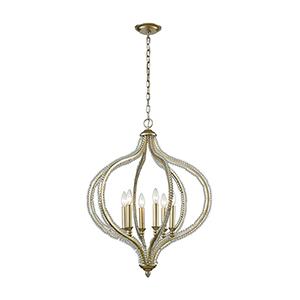 Bennington Aged Silver Six-Light Pendant