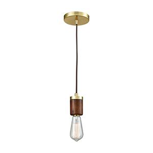 Socketholder Satin Brass One-Light Mini Pendant