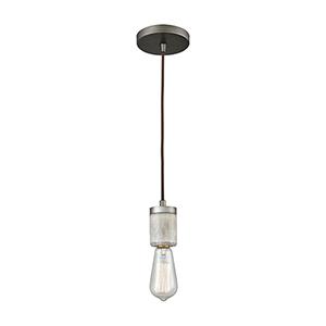 Socketholder Weathered Zinc Four-Inch One-Light Mini Pendant