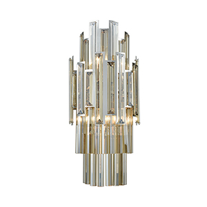 Rivona Polished Chrome Two-Light Wall Sconce