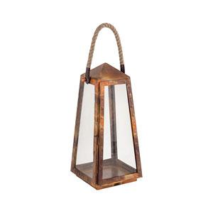 Levingston Burned Copper Seven-Inch Outdoor Lantern