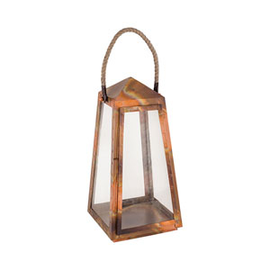 Levingston Burned Copper Nine-Inch Outdoor Lantern