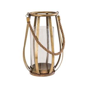 Lenwell Antique Brass Outdoor Lantern