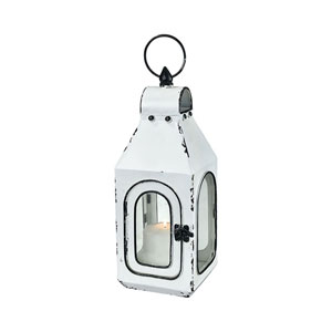 Freswick Colonial White Five-Inch Outdoor Lantern