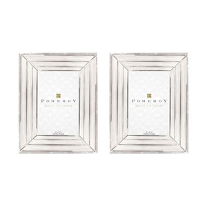Pierce Triple Beveled Mirror Picture Frame, Set of Two