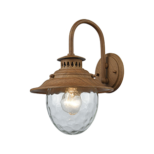 Searsport Dark Wood One-Light Outdoor Wall Sconce