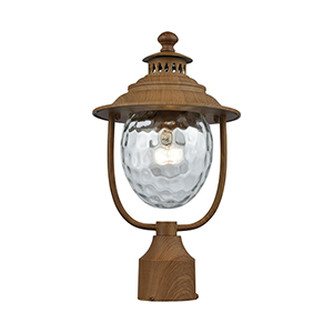 Searsport Dark Wood One-Light Outdoor Post Mount