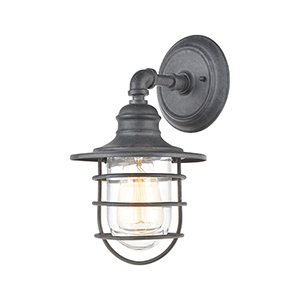 Vandon Aged Zinc One-Light Wall Sconce