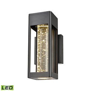 Emode Matte Black LED Five-Inch Wall Sconce With Seeded Crystal