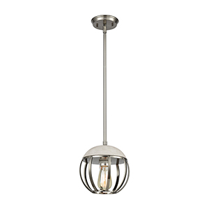 Urban Form Brushed Black Nickel One-Light Mini Pendant