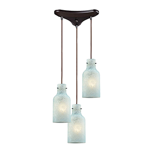 Weatherly Oil Rubbed Bronze 100W Three-Light Pendant