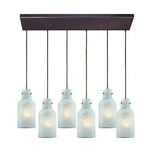 Weatherly Oil Rubbed Bronze 100W Six-Light Pendant