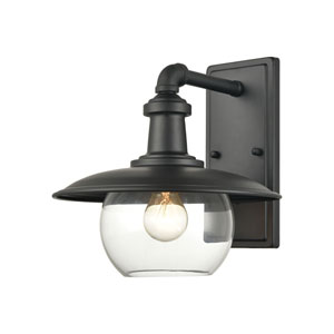 Jackson Matte Black 11-Inch One-Light Outdoor Wall Sconce