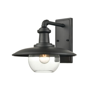 Jackson Matte Black 13-Inch One-Light Outdoor Wall Sconce