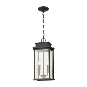 Braddock Architectural Bronze Two-Light Outdoor Pendant