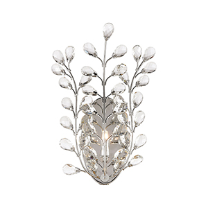 Crystique Polished Chrome One-Light Wall Sconce