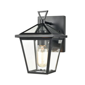 Main Street Black One-Light Outdoor Wall Sconce