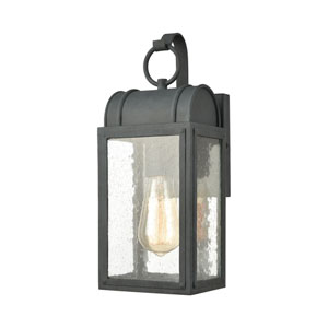 Heritage Hills Aged Zinc Six-Inch One-Light Outdoor Wall Sconce
