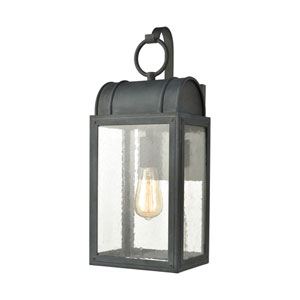 Heritage Hills Aged Zinc Eight-Inch One-Light Outdoor Wall Sconce
