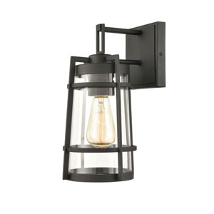 Crofton Charcoal Seven-Inch One-Light Outdoor Wall Sconce