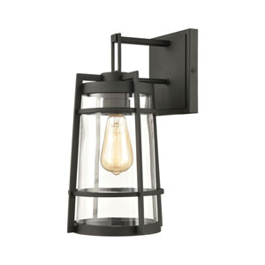 Crofton Charcoal Eight-Inch One-Light Outdoor Wall Sconce