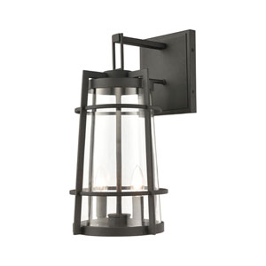 Crofton Charcoal Two-Light Outdoor Wall Sconce