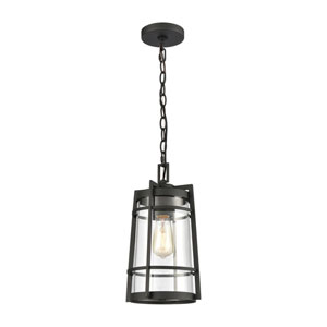 Crofton Charcoal One-Light Outdoor Pendant