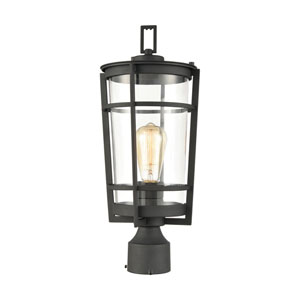 Crofton Charcoal One-Light Outdoor Post Mount