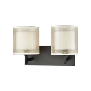 Ashland Matte Black Two-Light Bath Vanity