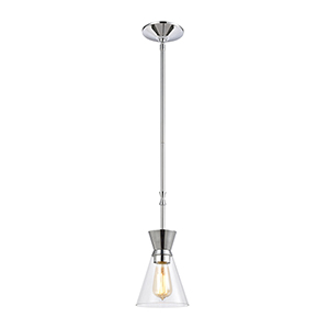 Modley Polished Chrome One-Light Mini Pendant