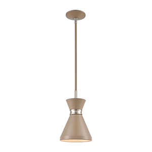 Modley Warm Gray and Satin Nickel One-Light Mini Pendant