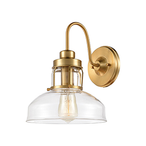 Manhattan Boutique Brushed Brass One-Light Wall Sconce