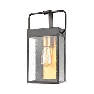 Knowlton Matte Black and Brushed Brass One-Light Eight-Inch Wall Sconce