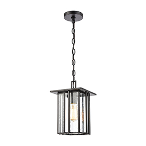 Radnor Matte Black One-Light Outdoor Pendant