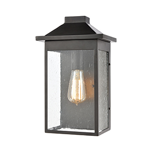 Lamplighter Matte Black One-Light Eight-Inch Wall Sconce