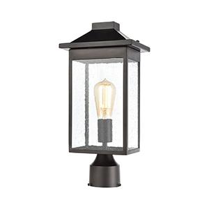 Lamplighter Matte Black One-Light Outdoor Post Mount