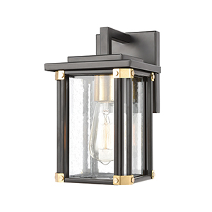 Vincentown Matte Black and Brushed Brass One-Light Six-Inch Wall Sconce