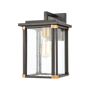 Vincentown Matte Black and Brushed Brass One-Light Eight-Inch Wall Sconce
