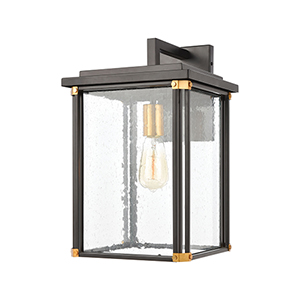 Vincentown Matte Black and Brushed Brass One-Light Wall Sconce