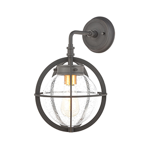Davenport Charcoal and Brushed Brass One-Light Wall Sconce