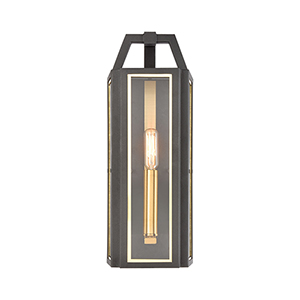 Portico Charcoal and Brushed Brass One-Light ADA Wall Sconce