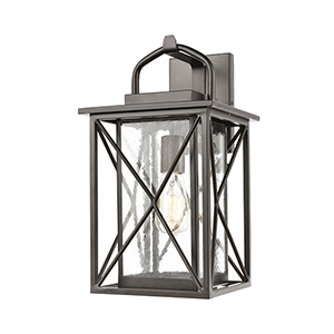 Matte Black One-Light Wall Sconce