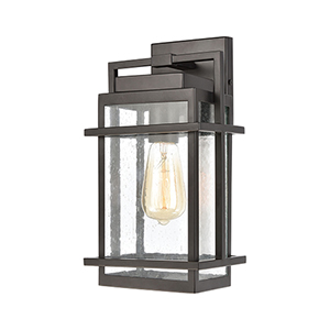 Breckenridge Matte Black One-Light Seven-Inch Wall Sconce