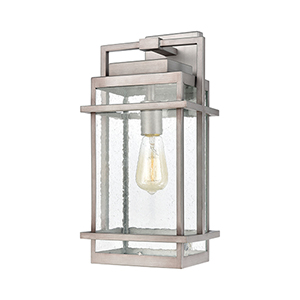 Breckenridge Weathered Zinc One-Light Eight-Inch Wall Sconce