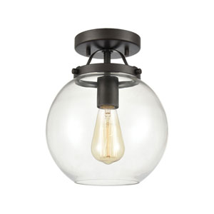 Bernice Oil Rubbed Bronze One-Light Semi Flush Mount